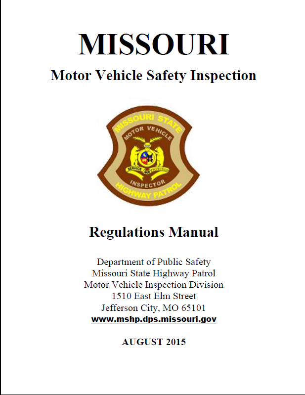 Missouri vehicle inspection vehicle ideas for Pa motor vehicle inspection